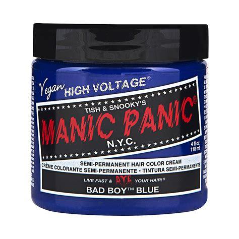 Manic Panic Nyc Semi Permanent Hair Color Bad Boy Blue Classic manic panic bad boy blue high voltage classic hair dye hair colour