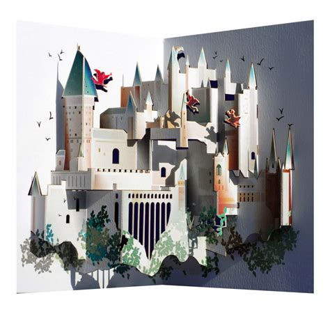 harry potter pop up card template amazing harry potter hogwarts pop up greeting card by ge feng