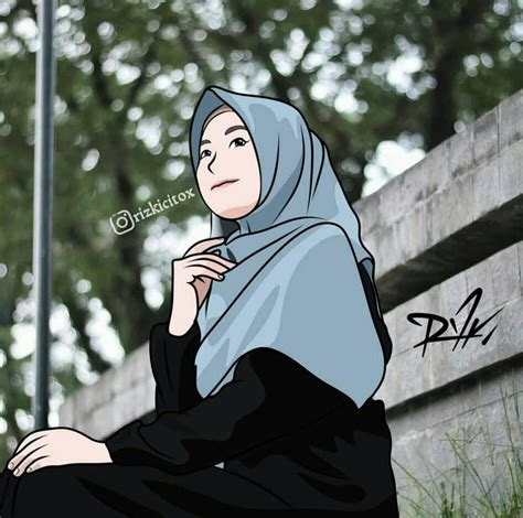 foto anime berhijab keren gambar keren hd