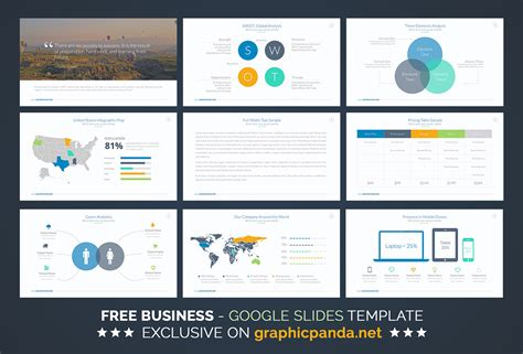 Free Business Plan Google Slides Template On Behance Business Slide Presentation Template