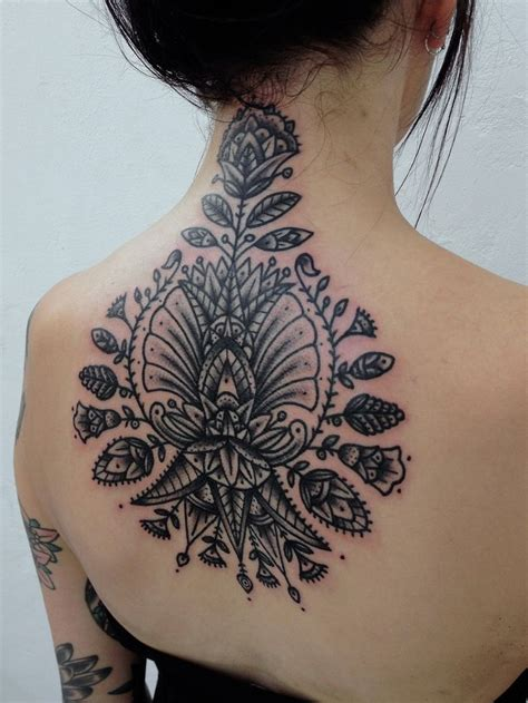back neck tattoos 45 back of the neck designs meanings way to the