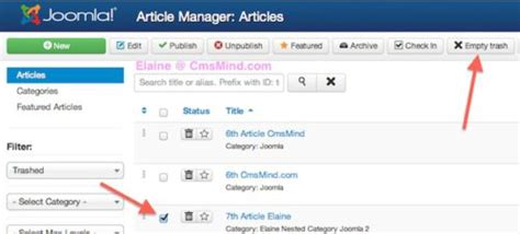 tutorial for joomla 3 3 joomla 3 tutorial how to delete an article in article