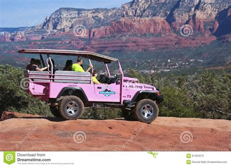 Pink Jeep Tours Sedona Broken Arrow A Rocks Tour Jeep Sedona In The Distance Editorial