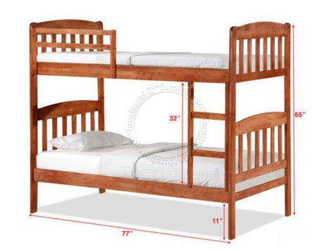 futon decke deck bunk bed dd1062wh