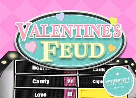 Valentine S Feud Trivia Powerpoint Game Mac Pc And Ipad Compatible Youth Downloadsyouth Printable Family Feud