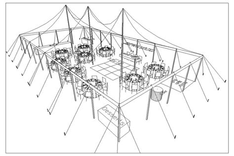 tent wedding layout ideas tents events sle layout for 75 attendees