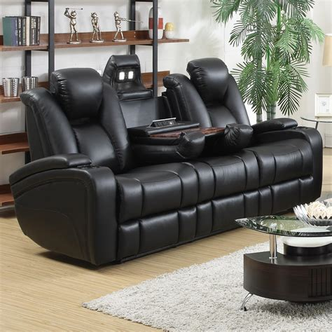 delange leather power reclining sofa theater seats