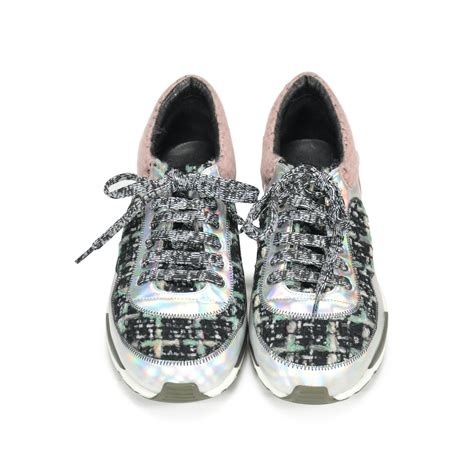 Tweed Sneakers second chanel tweed sneakers the fifth collection
