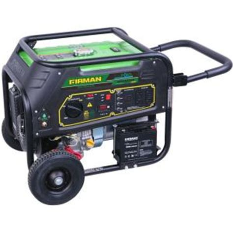 firman generators 9 000 watt dual fuel generator with