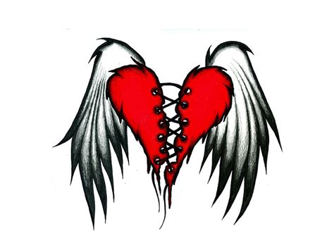 heart with wings tattoo designs tattoos