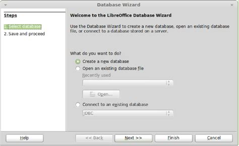 tutorial linux mint indonesia gambar 1 database wizard