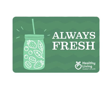 Gift Card Prices - custom price gift card healthy living market caf 233