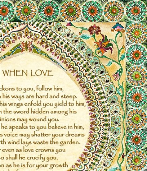 Wedding Blessing Kahlil Gibran by On Blessing By Kahlil Gibran Special S Day