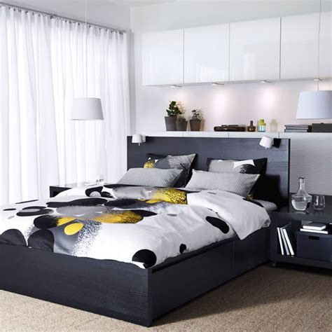 ikea malm black brown bedroom set home delightful