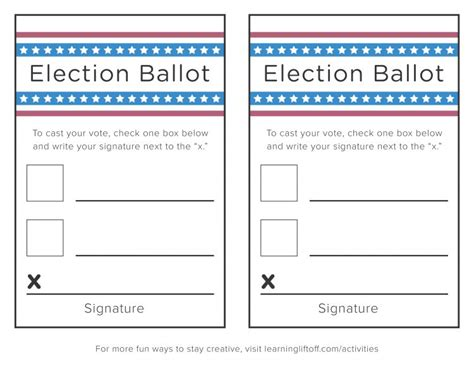 voting ballot template voting printables for learning liftoff
