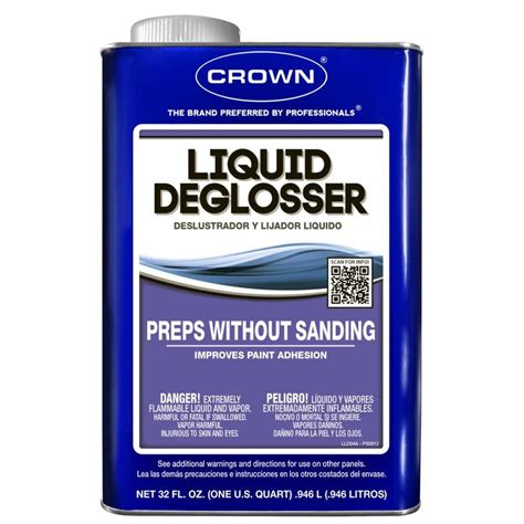 liquid sandpaper kitchen cabinets shop crown qt liquid deglosser at lowes com