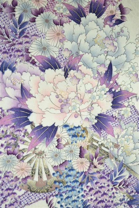 japanese pattern vintage vintage silk kimono fabric chrysanthemum wisteria jj34