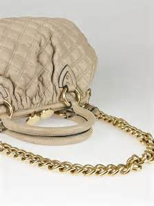 marc beige quilted lambskin leather stam bag