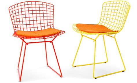 Bertoia Outdoor Chair by Bertoia Side Chair With Seat Cushion Hivemodern