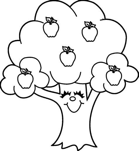 coloring page of a apple tree apple coloring pages coloringsuite