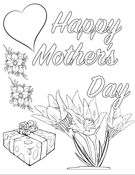 mothers day pictures to color free printable s day coloring pages 4 designs