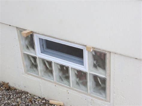 glass block basement window in st louis basement