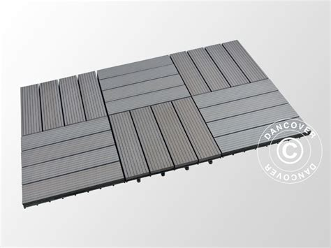 piastrelle grigio scuro piastrelle in wpc per pavimenti esterni 0 3x0 3m grigio