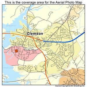 aerial photography map of clemson sc south carolina