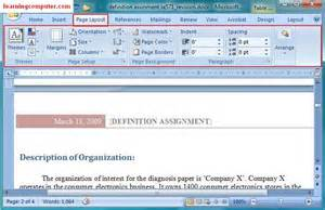 gt microsoft word 2007 page layout tab softknowledge s