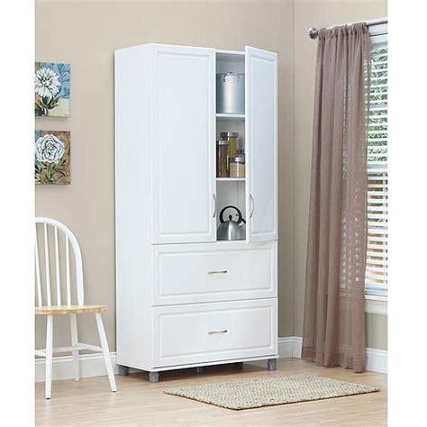 """SystemBuild 36"""" 2 Door/2 Drawer Storage Cabinet, White"""