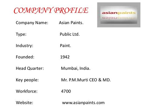 In Asian Paints For Mba Marketing by Asian Paint Ppt