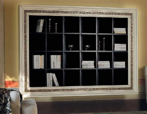 libreria con cornice libreria a muro con cornice intarsiata df mobili classici