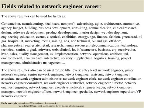 cover letter network engineer fresher top 5 network engineer cover letter sles
