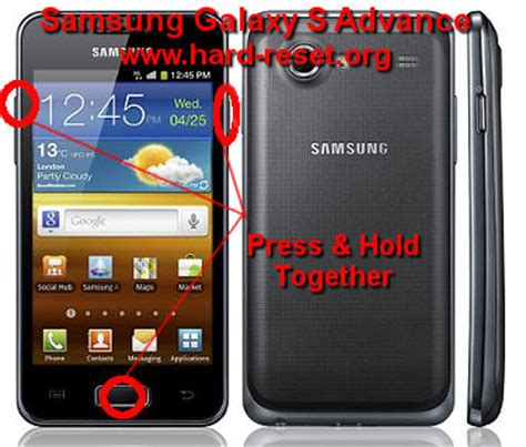 hard reset samsung i9070 how to easily master format samsung galaxy s advance gt
