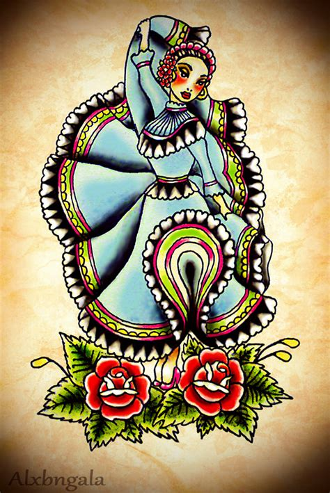 mexican tattoo flash by alxbngala on behance