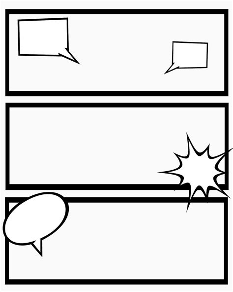 Printable Blank Comic Template For by Printable Comic Strips For Narration Sweet Mess