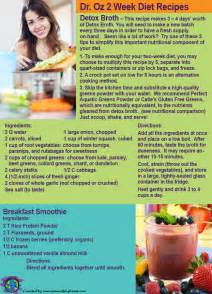 Dr Oz Detox Vegetable Broth Recipe by Dr Oz Two Week Rapid Weight Loss Diet Part 2 Recipes And