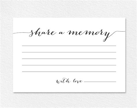 Memory Card Template a memory card printable template from bliss paper