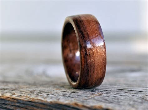 wood ring 5 year anniversary wooden ring custom wooden ring