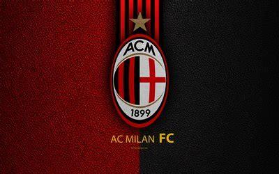 Kaos A C Milan Football Logo 4 Singlet Tanpa Lengan Tpl Acm15 Pria wallpapers ac milan 4k italian football club serie a emblem milan fc logo leather