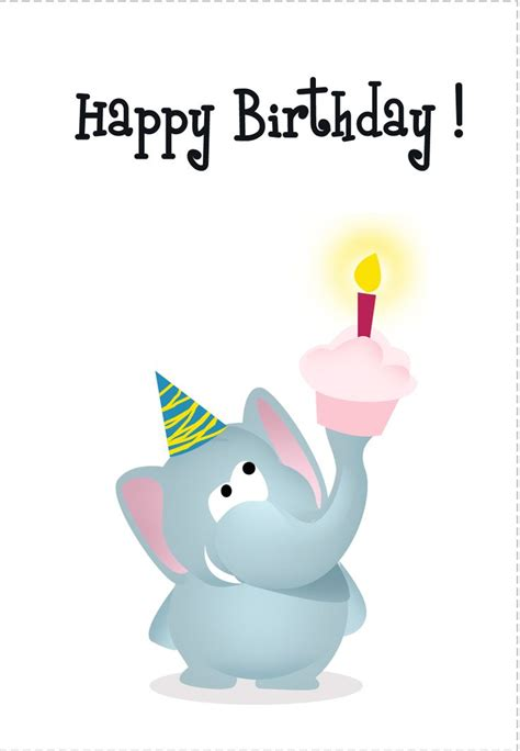 Printable Birthday Cards Elephant | birthday card free elephant printable birthday cards