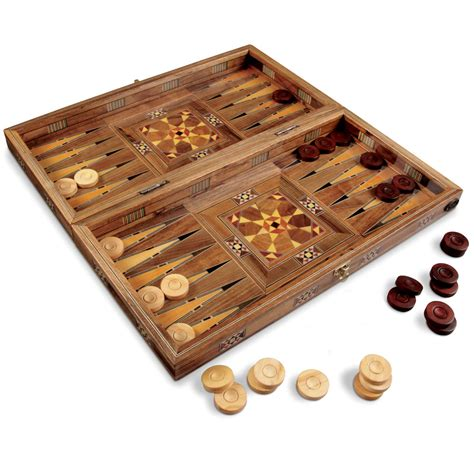 Handmade Backgammon Set - the handmade turkish backgammon set hammacher schlemmer