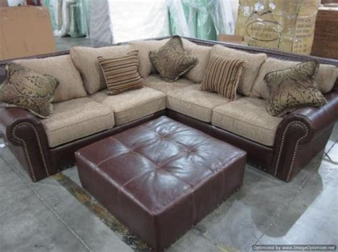 Studded Sectional Sofa by New Beautiful Studded 3pc Leather Fabric Sectional Sofa
