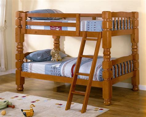 Sturdy Bunk Bed Baltimore Oak Solid Pine Bunk Bed Bold Sturdy