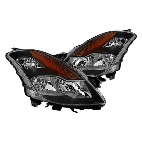 2008 Nissan Altima Headlights by 08 09 Nissan Altima Coupe Black Housing Oem Headlights