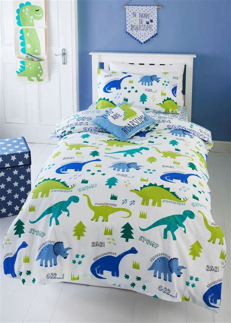 kids dinosaur print singledouble duvet cover green
