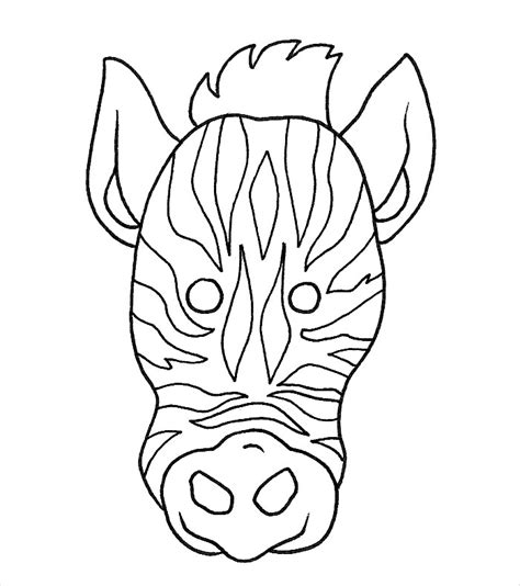 printable animal masks zebra animal mask template