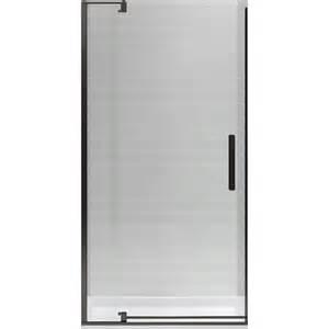 Pivot Shower Door Frameless Shop Kohler Revel 31 125 In To 36 In Frameless Pivot Shower Door At Lowes