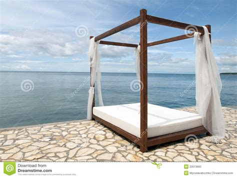 bed on the beach bed on the beach stock photo image 20513660