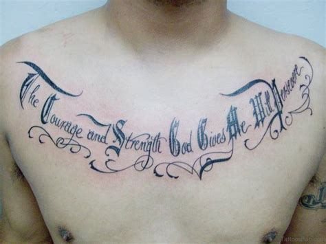 text tattoo design 68 outstanding chest tattoos